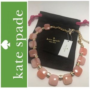 ♠️ Kate Spade Peach Color Block Necklace